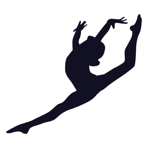 Gymnast woman exercise silhouette Transparent PNG