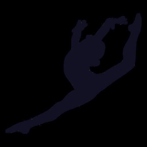 Silueta de ejercicio de mujer gimnasta Transparent PNG