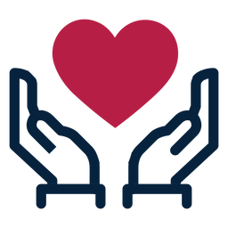 Silueta de trazo de corazón de mano
