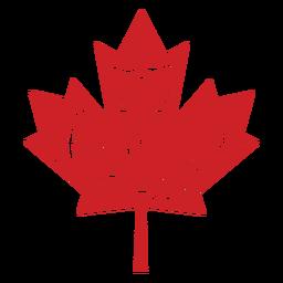 Feliz día de Canadá hoja insignia de arce