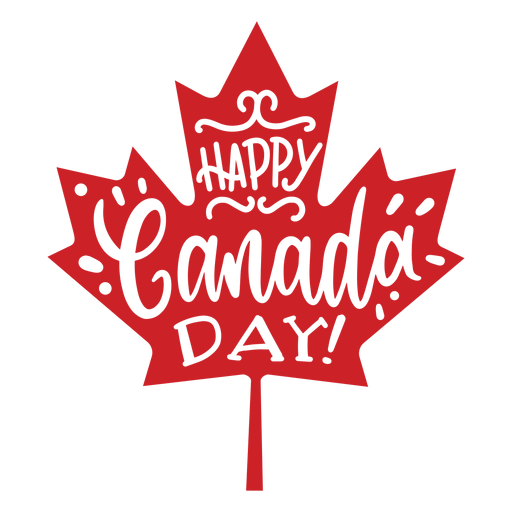 Happy canada day leaf maple badge sticker Transparent PNG