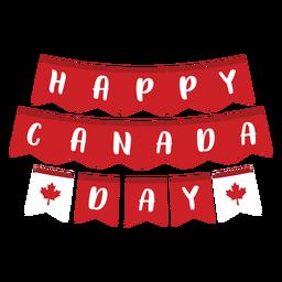 Feliz día de Canadá insignia de hoja de arce