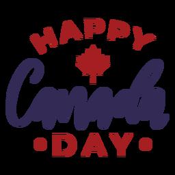 Insignia de la etiqueta engomada de la hoja de arce del feliz día de Canadá