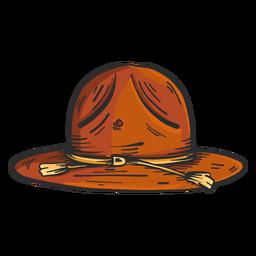 Hat brim colored sketch