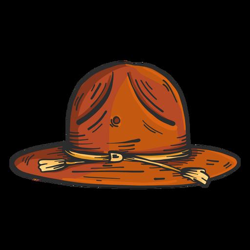 Dibujo coloreado de ala de sombrero Transparent PNG