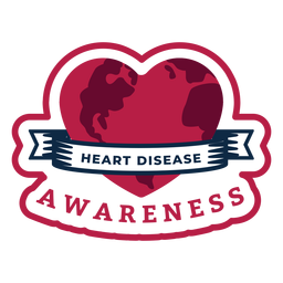 Insignia del corazón de conciencia de enfermedad cardíaca
