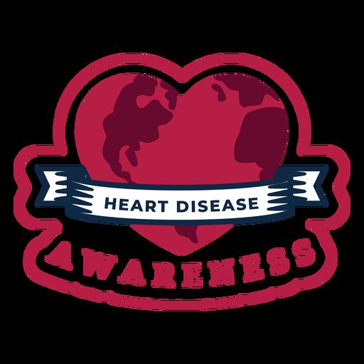 Heart disease awareness heart badge sticker