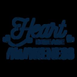 Heart disease awareness heart badge sticker health