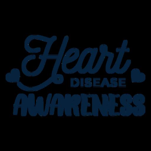 Herzkrankheitsbewusstseinsherz-Abzeichenaufklebergesundheit Transparent PNG