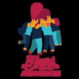 Herzkrankheitsbewusstseinsherzmannfrauen-Ausweisaufkleber