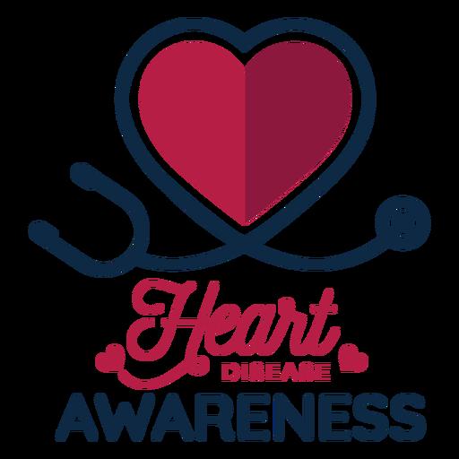 Heart disease awareness heart phonendoscope badge sticker