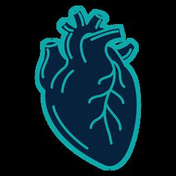 Herz Abzeichen Aufkleber Schlaganfall