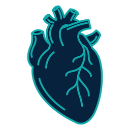 Insignia del corazón pegatina trazo