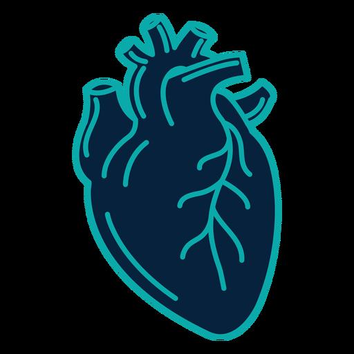 Heart badge sticker stroke Transparent PNG