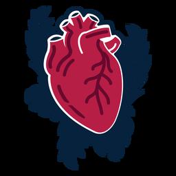 Herz Zweig Abzeichen Aufkleber