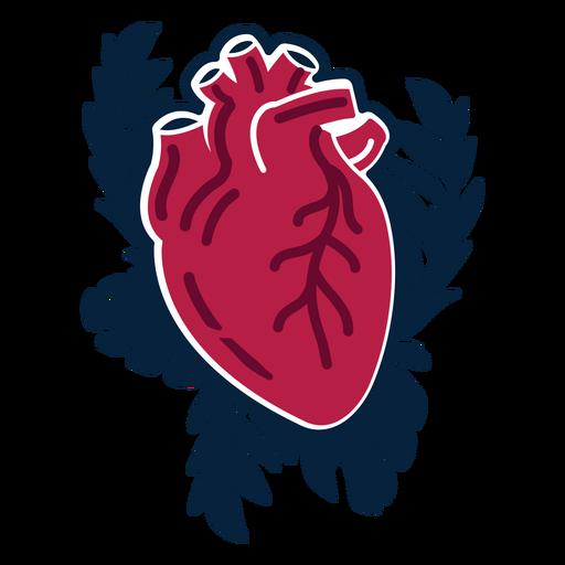 Herz Zweig Abzeichen Aufkleber Transparent PNG
