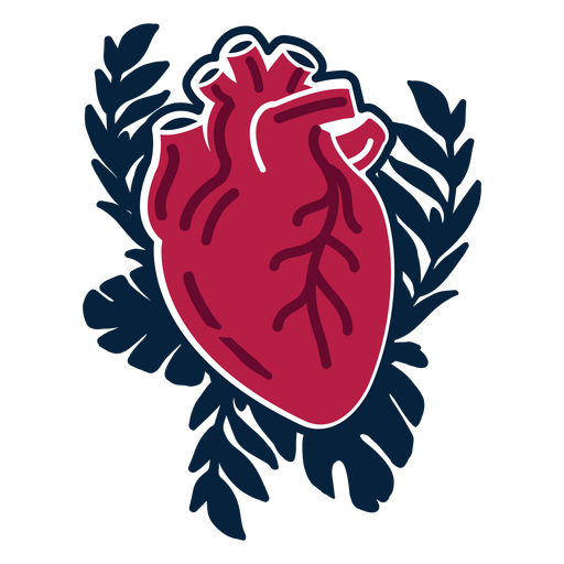 Herzzweig Abzeichen Aufkleber Transparent PNG