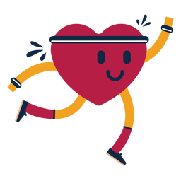 Heart exercise badge sticker