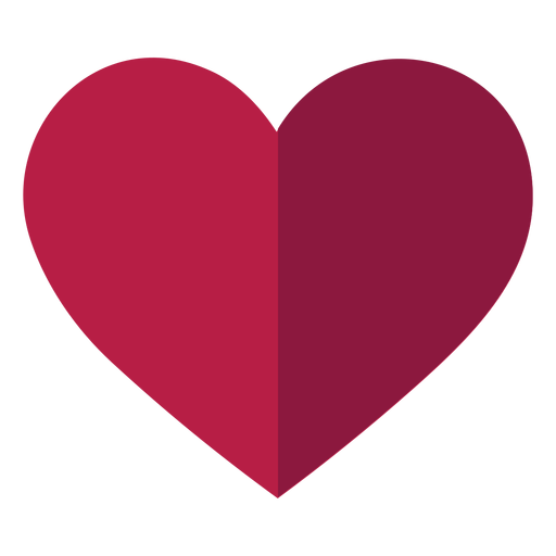 Corazón plano Transparent PNG