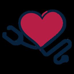 Herz Phonendoscope Abzeichen Aufkleber