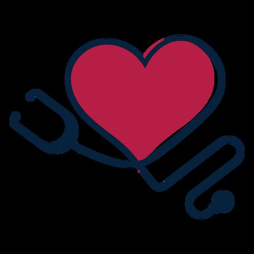 Etiqueta engomada de la insignia del fonendoscopio del corazón Transparent PNG