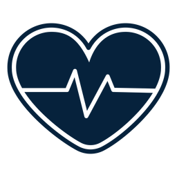 Heart pulse badge sticker