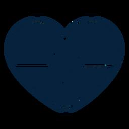 Herz-Puls-Abzeichen-Aufkleber