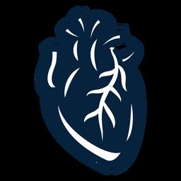 Insignia de la etiqueta del corazón