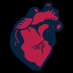 Herz Sticker Abzeichen Schlaganfall