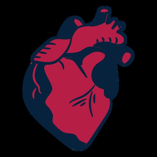 Heart sticker badge stroke Transparent PNG