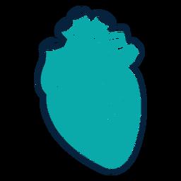 Herzschlag Abzeichen Aufkleber