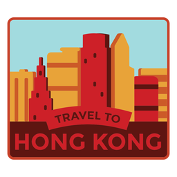 Hong kong travel to hong kong sticker