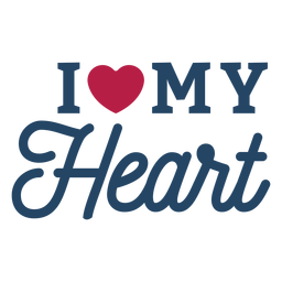 I my heart heart badge sticker