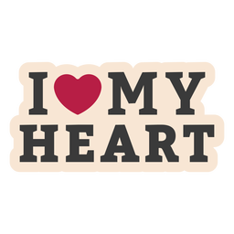 I my heart heart sticker badge