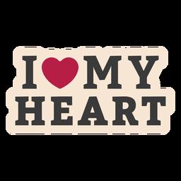 Yo mi corazón insignia de la etiqueta engomada del corazón