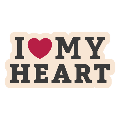Yo mi corazón corazón pegatina insignia Transparent PNG
