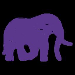Mantenha o emblema vivo da etiqueta do elefante das memórias