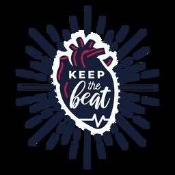 Keep the beat heart pulse badge sticker health