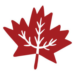 Leaf maple detailed silhouette