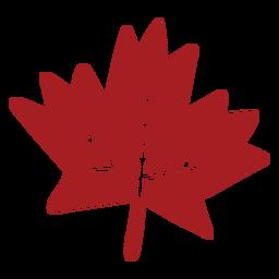 Silhueta detalhada de folha maple