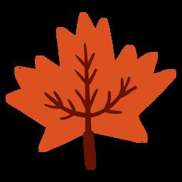 Maple folha plana