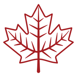 Leaf maple stroke