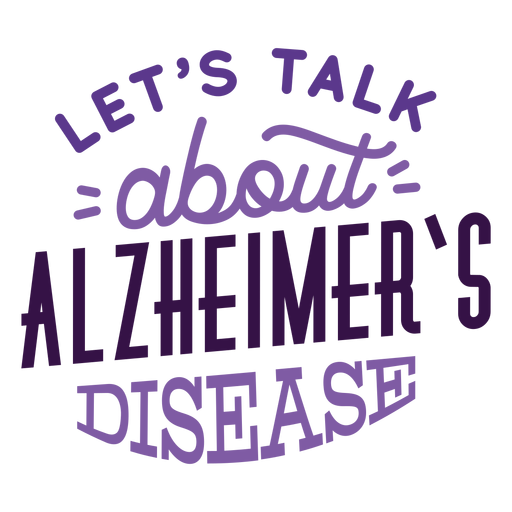 Let's talk about alzheimer's disease sticker badge Transparent PNG