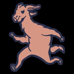 Llama running flat stroke