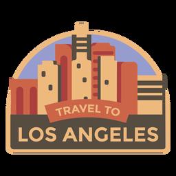 Los Angeles-Reise zu Los Angeles-Aufkleber