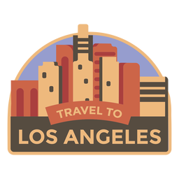 Los angeles travel to los angeles sticker