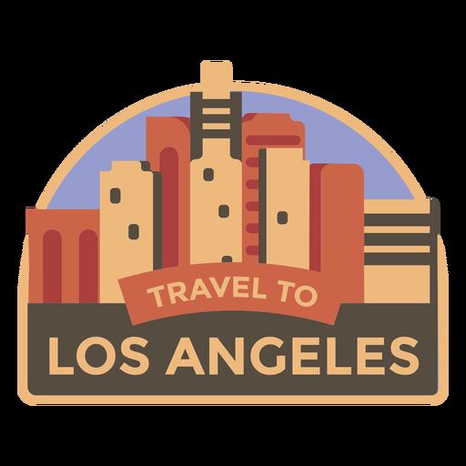Los Angeles-Reise zu Los Angeles-Aufkleber Transparent PNG