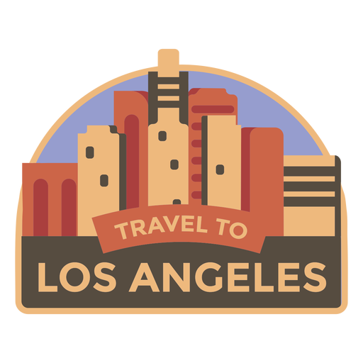 Los angeles travel to los angeles sticker Transparent PNG