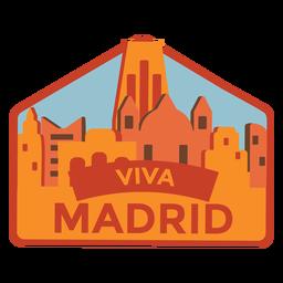 Autocolante Madrid viva madrid