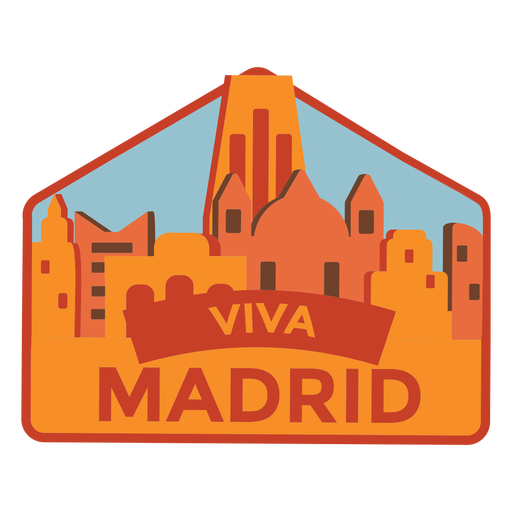 Autocolante Madrid viva madrid Transparent PNG
